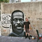 Image for the Tweet beginning: Ballaro' Murales a Palermo per #GeorgeFlyod Che il