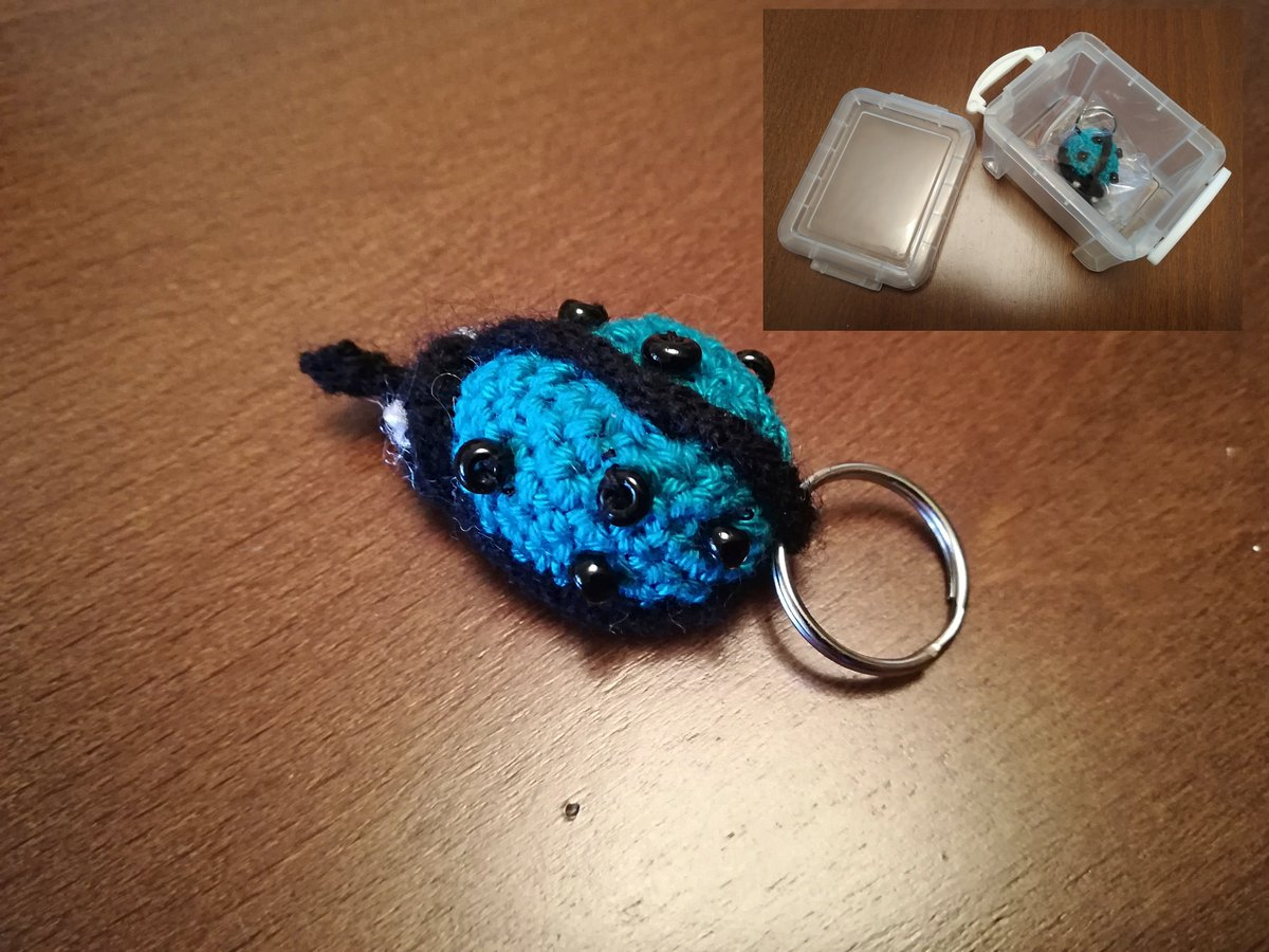 Knitted Ladybug Keychain, Blue Toy Ladybird, Insect Key Chain, Hand Knitted Toy, soft blue stuffed cute animals, insect Just for you #cuteanimals #softtoy #stuffedtoy https://www.etsy.com/listing/604389903/knitted-ladybug-keychain-blue-toy?utm_source=tweeteye&utm_medium=api&utm_campaign=api…pic.twitter.com/kmhWWK4doq