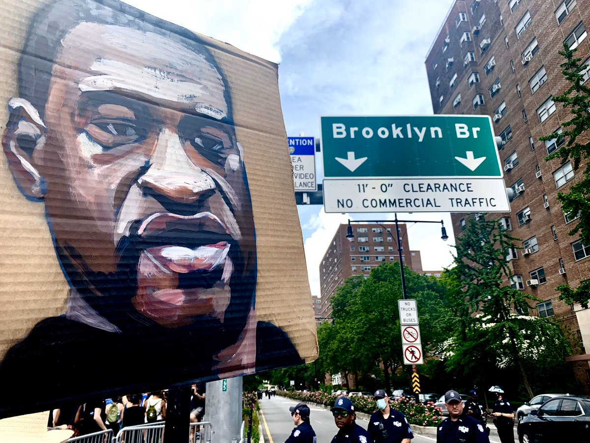 Brooklyn is coming at you Manhattan. Thousands.  ✊🏿✊🏾✊🏽✊🏼✊🏻 https://t.co/Gn0OQRYbd5
