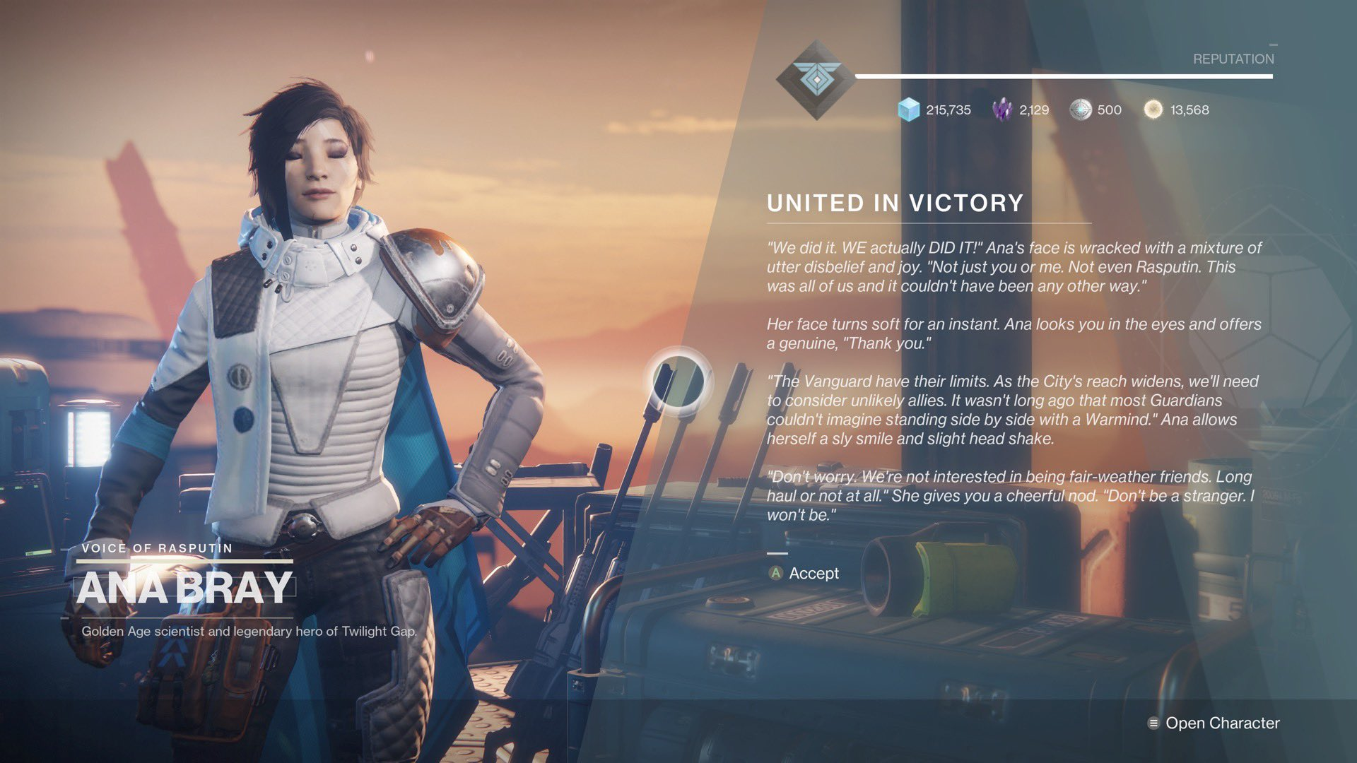 Destinytracker On Twitter New Dialogue From Ana Bray On Mars Ana bray was a guardian and to learn more about her, those secrets are hidden deep within the lore surrounding destiny. new dialogue from ana bray on mars