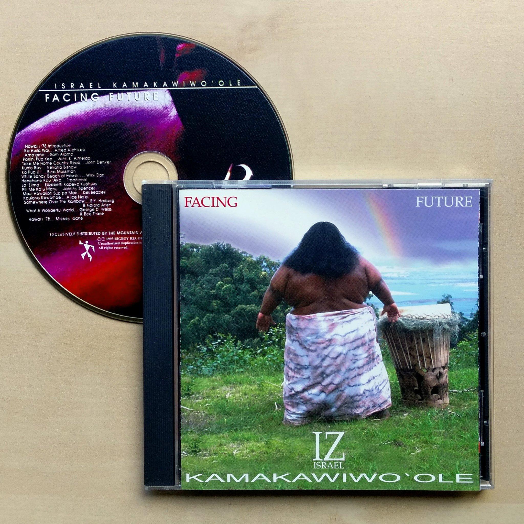 "radiofuturamusic on Twitter: ""Israel Kamakawiwo'ole – Facing Future.  Original 1993 CD headed out to Tijeras, New Mexico. #IsraelKamakawiwoole #IZ  #FacingFuture #SomewhereOverTheRainbow #RockMusic #ReggaeMusic  #HawaiianMusic #CDCollector ..."