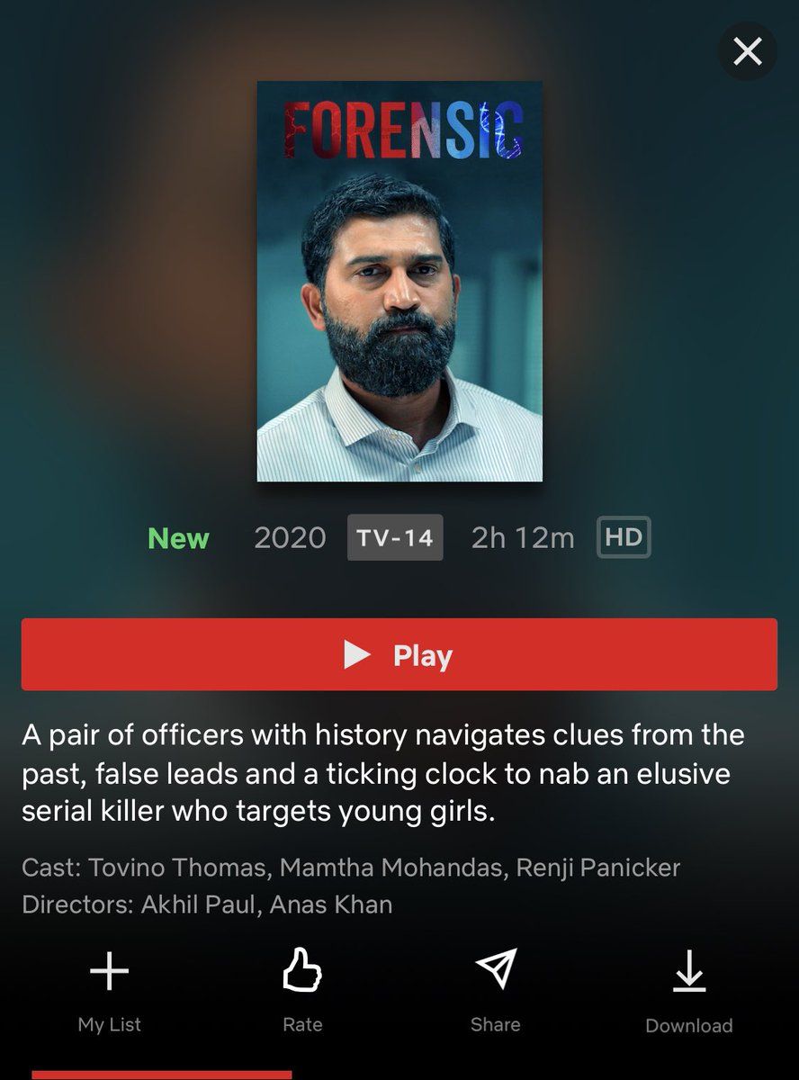 Christopher Kanagaraj On Twitter Malayalam Film Forensic Is Streaming Now In Netflix