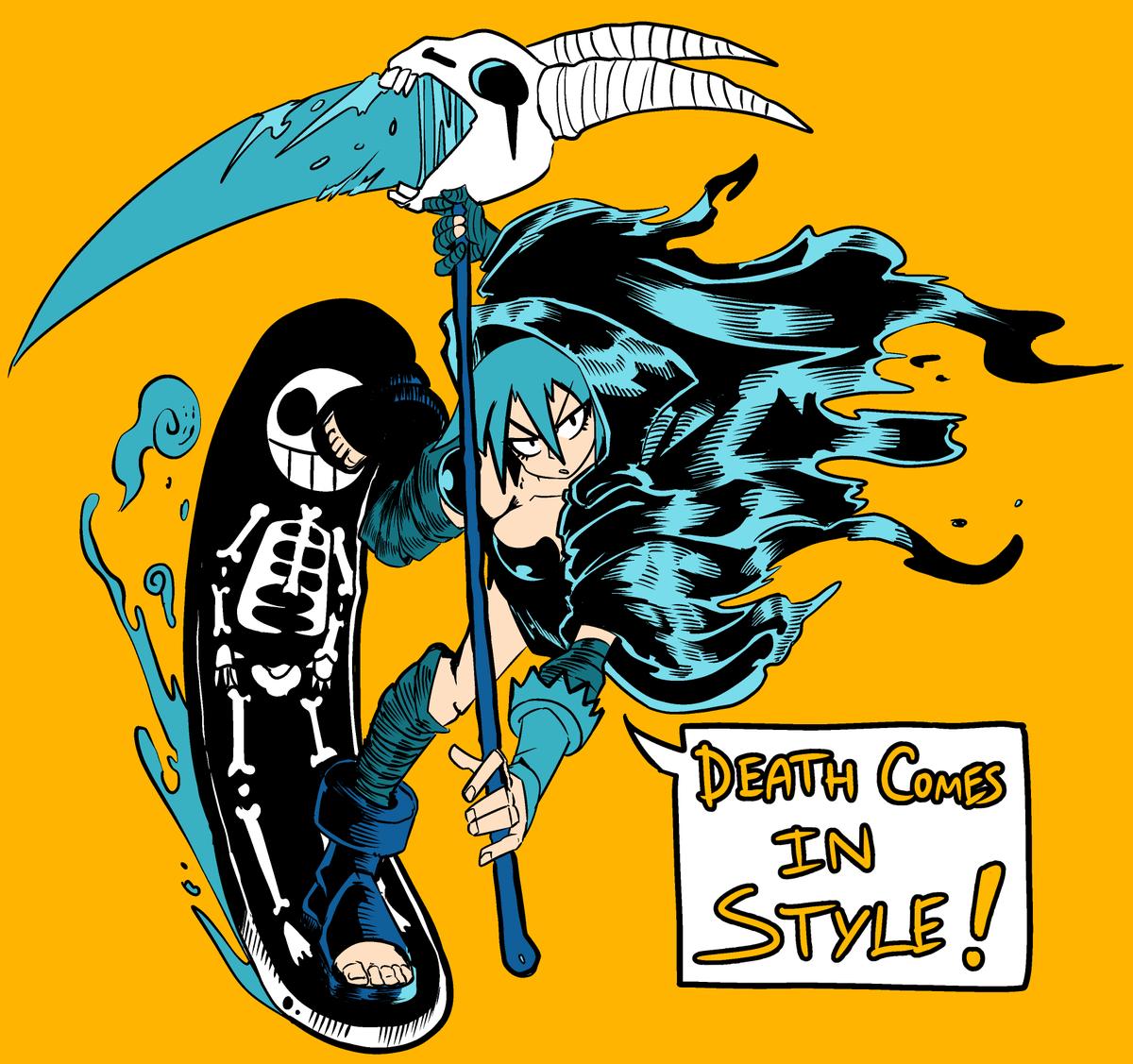 Here comes the reaper ! #oc #originalcharacter #art pic.twitter.com/UKIzxpI6pQ