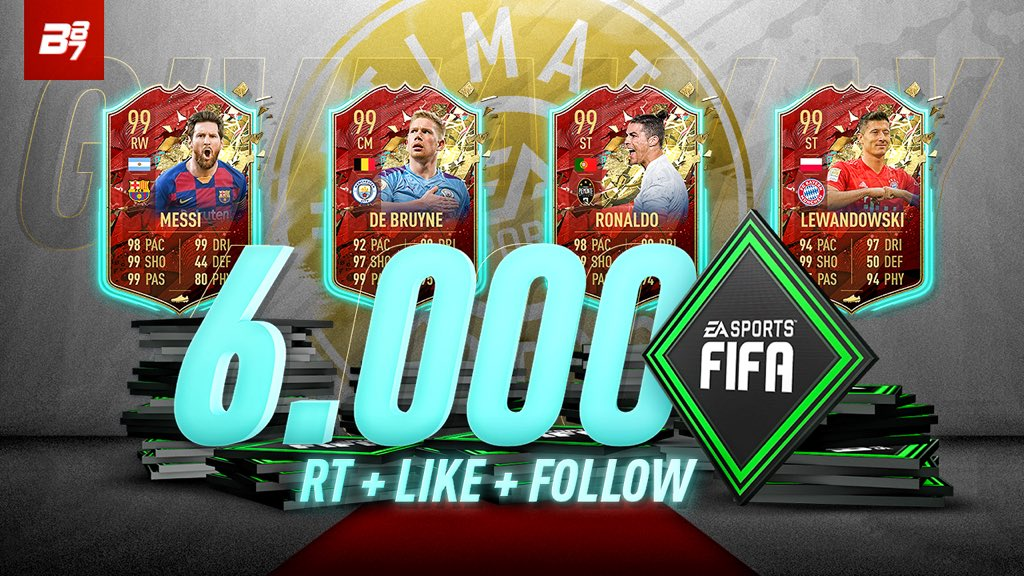 6K FIFA POINT GIVEAWAY! (Or £40)  RT and FOLLOW @MBC_Kaylan  @TheMightyPed @KingCJ0   Winner contacted on Thursday evening! Good luck! https://t.co/pzCKHHdLIl