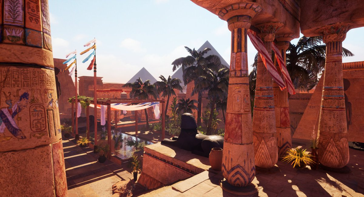 Hey!!  One week later this is how looks finally my egypt environment in #saturdayscreenshot!! Hope you like it! 1/2 . #arte #gameart #games #indiegame #IndieGameDev #UnrealEngine #UE4 #Egypt #SubstancePainter #environmentpic.twitter.com/VpTSaS8gMv