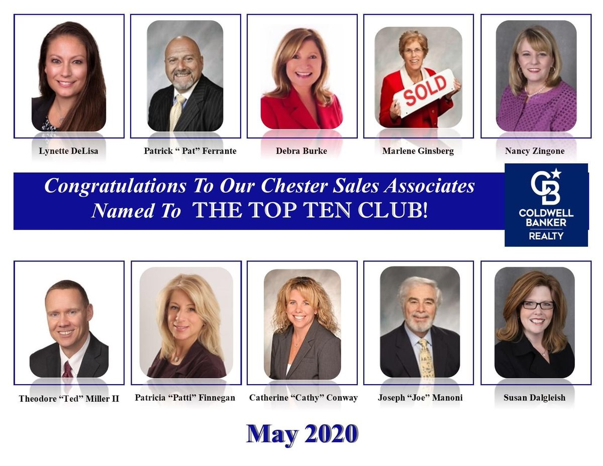 So grateful for another terrific sales month! Proud to be named among this esteemed group of professionals. #closewithconway #coldwellbankerchester #hardworkpaysoffs #lovemyjob #topten #topproducerpic.twitter.com/Iwxq16ODNU