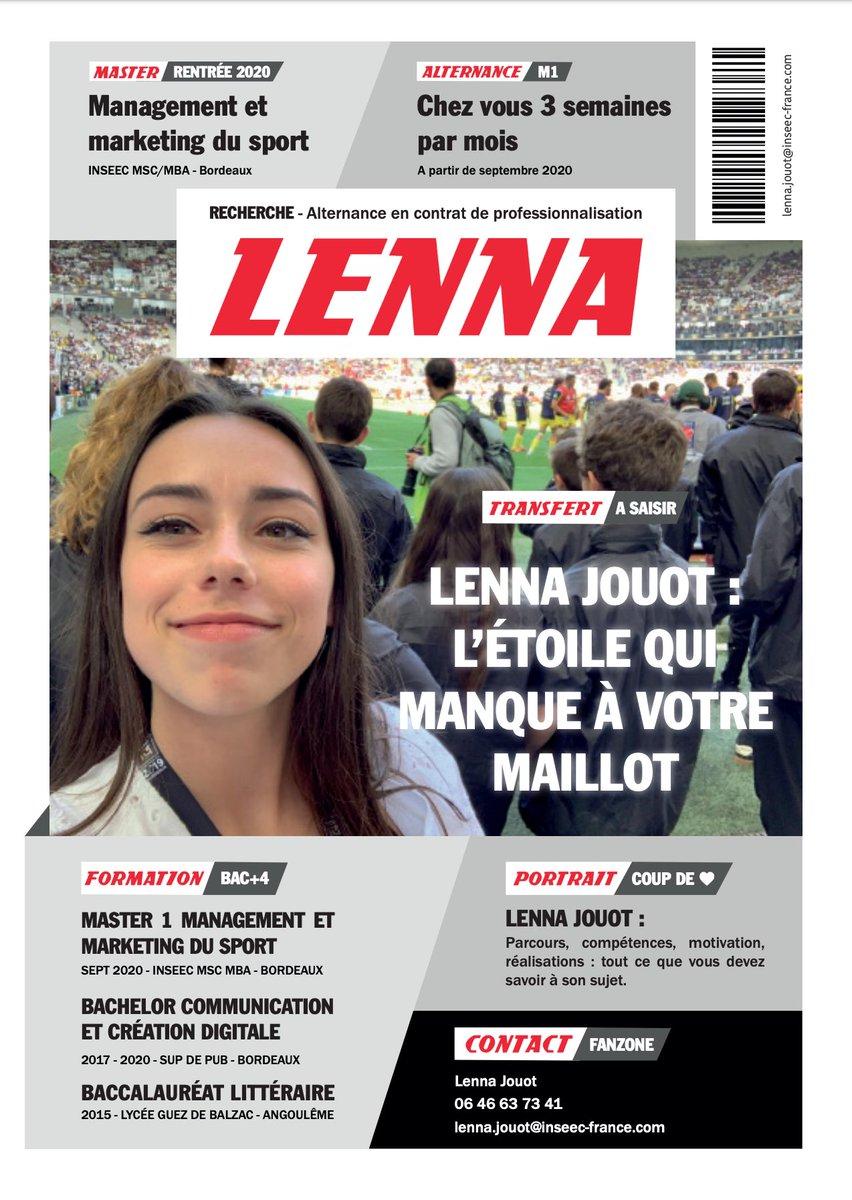 Pour sa recherche d'alternance, cette étudiante en marketing du sport dévoile un CV vraiment créatif en détourant les codes du journal @lequipe 🗞   Crédits : Lenna Jouot https://t.co/JB02vbGK5d