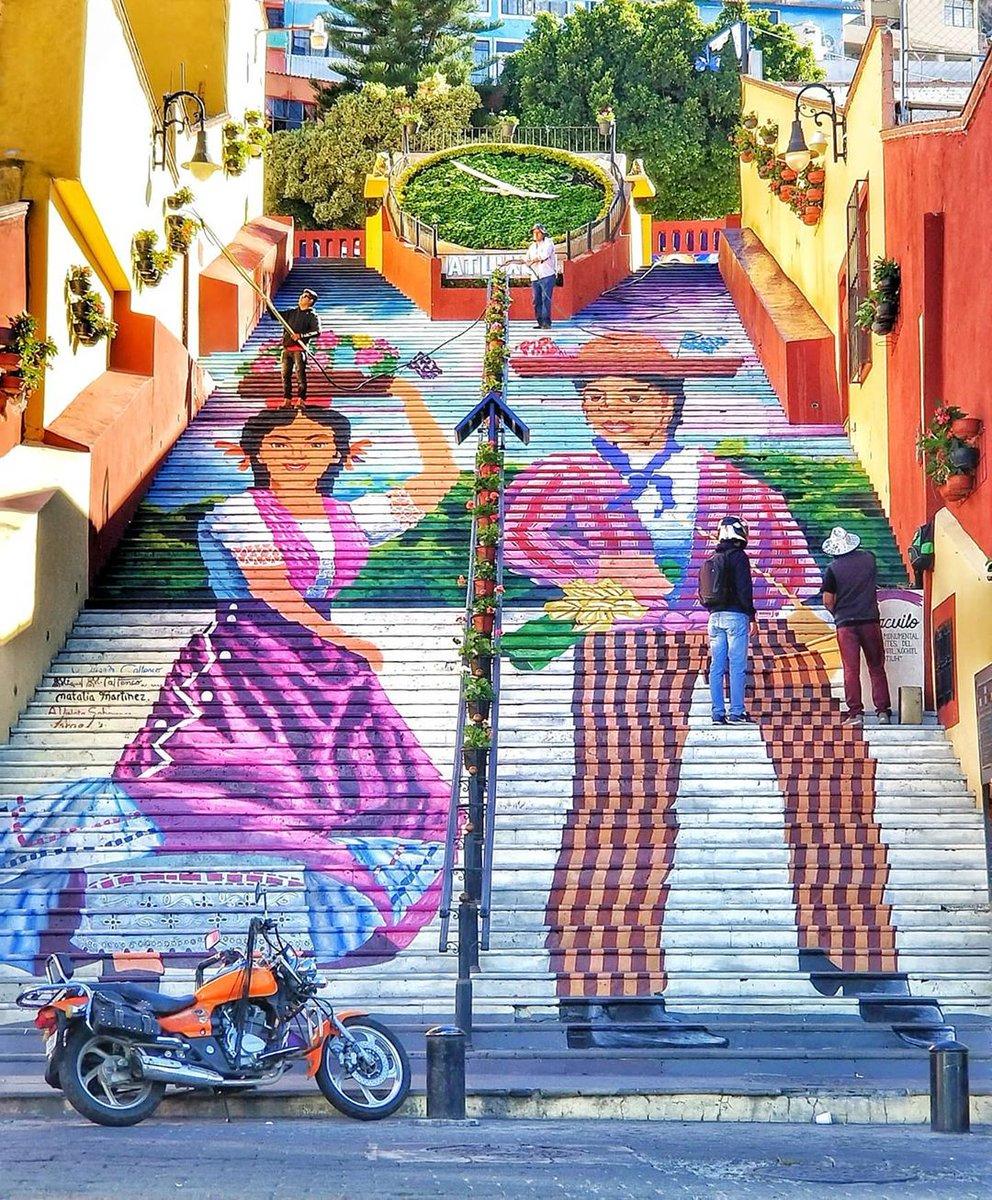 La nueva imagen de las escaleras de Atlixco.