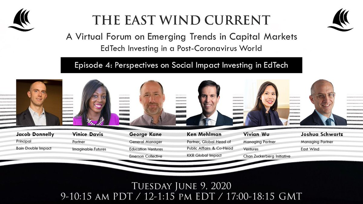 We are pleased to welcome @ViniceinED of @ImaginableFut to our panel of prominent impact investors in EdTech, this Tuesday, June 9 at 12PM EDT.  You can register at https://t.co/qquiqbOCqx #edtech #k12 #highered #futureofwork #impactinvesting https://t.co/w4zNlNBHA5