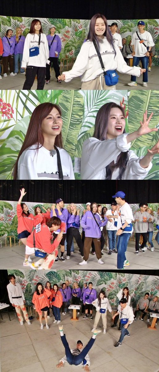 On Running Man today, TWICE started a exciting party as they cant control their overflowing talent and dance instinct. it turns 180° as the atmosphere gradually heat up It is said that Dahyun is raising to the rank of Comic Dance master with her ability 😂 @JYPETWICE