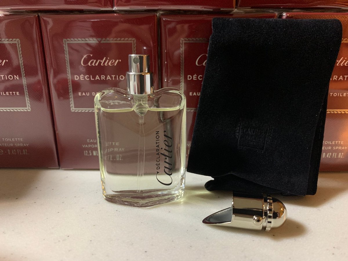Excited to share this item from my #etsy shop: Cartier declaration mini travel spray 12.5ml .42oz https://etsy.me/3dFEmvrpic.twitter.com/2qIdiREV5a