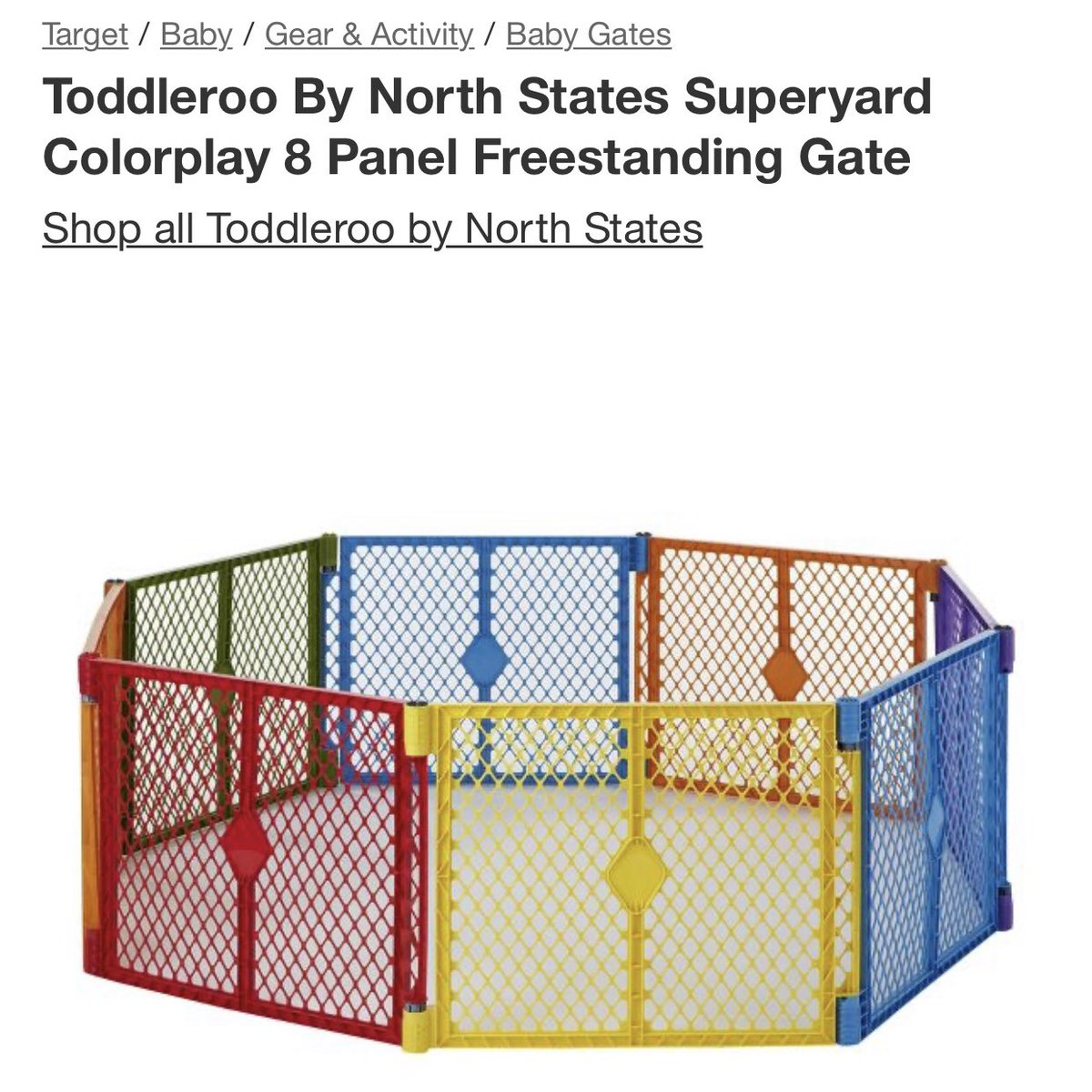 """Toddleroo."" Designed to keep the toddler inside. What does this remind me of..."