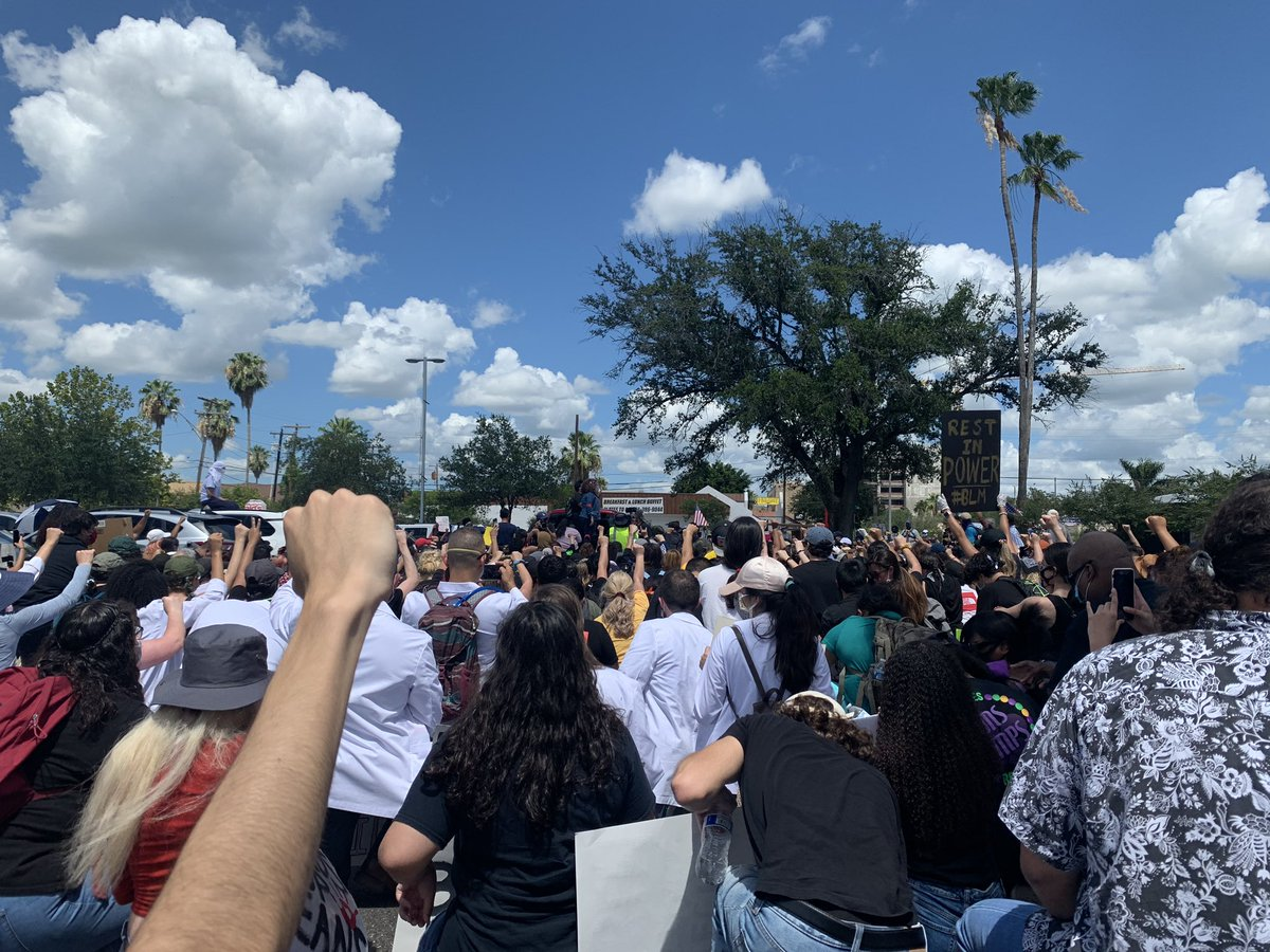To see the valley come together and stand with our black brothers and sisters today was very beautiful ❤️✊🏾✊🏽✊🏿 #BlackLivesMatter
