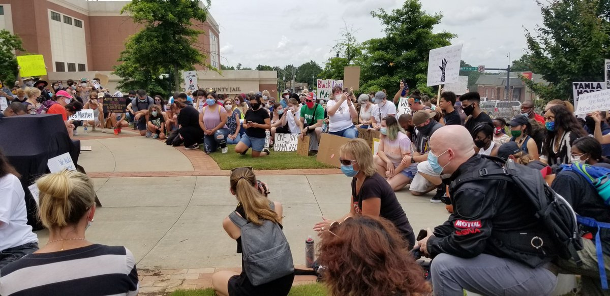 A protest held in Forsyth county today. Nearly a thousand people showed up to support. #11alive