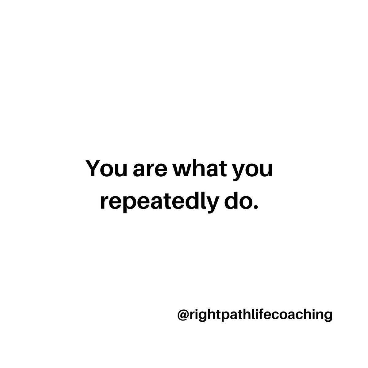 You are what you repeatedly do.  #REFLECTION pic.twitter.com/MpS9z2nARX