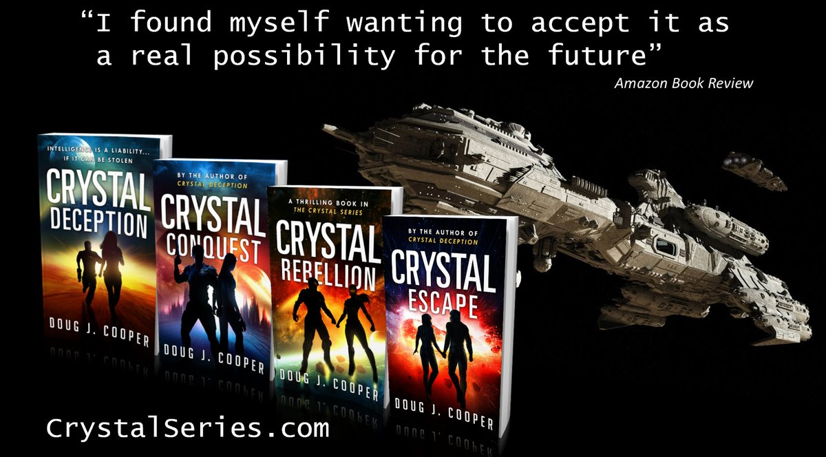Kyle made his fortune the old-fashioned way. He inherited it. The Crystal Series – futuristic suspense Start with first book CRYSTAL DECEPTION Series info: https://t.co/fBUJyfeSmb Buy link: https://t.co/UPQnnh8taL  #kindleunlimited #scifi https://t.co/hBDkTSuG0F