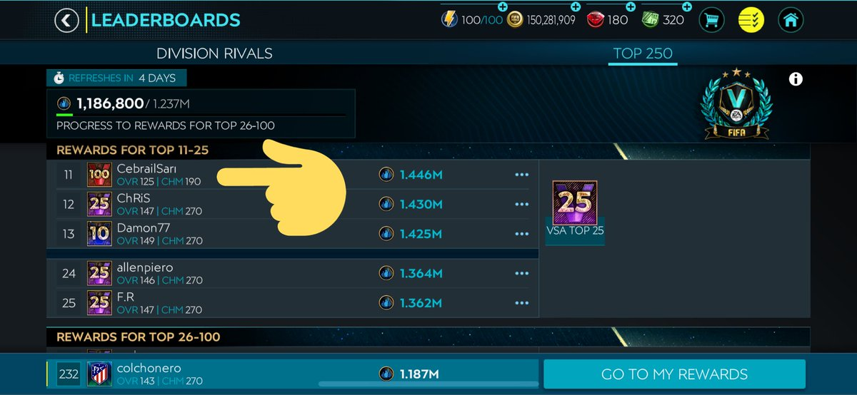 @EAFIFAMOBILE hacking and not in a league so he cannot be reported via the app pic.twitter.com/p85M7IQsd9