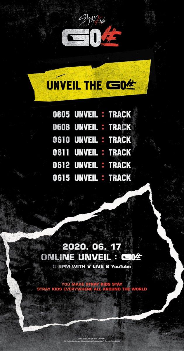 Stray Kids(스트레이 키즈) UNVEIL THE GO生 ONLINE UNVEIL : GO生 WITH V LIVE & YouTube 2020.06.17 9PM (KST) #StrayKids #스트레이키즈 #GO生 #GOLIVE #神메뉴 #GodsMenu #UNVEILTRACK #StrayKidsComeback #YouMakeStrayKidsStay