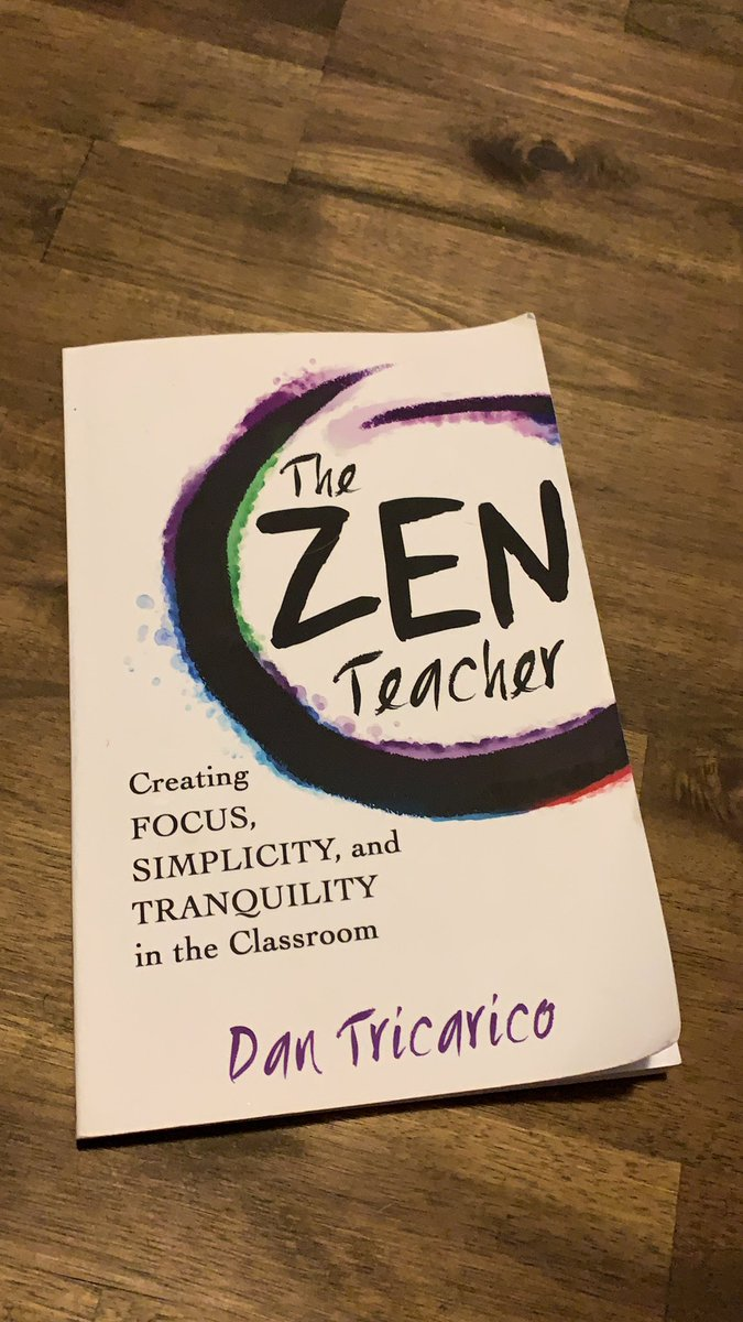 Just finished this gem. If you are looking for a quick simple read that is teacher specific and highly reflective... you're welcome 🧡 @thezenteacher https://t.co/hHwKVEhyKA