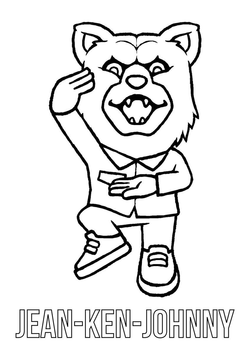 【MWAMFanArt企画】ジャン・ケン・ジョニー登場!皆さんぜひ塗り絵チャレンジしてみてくださいね🙌完成作品を公開する際には #MWAMFanArt を付けるのをお忘れなく!