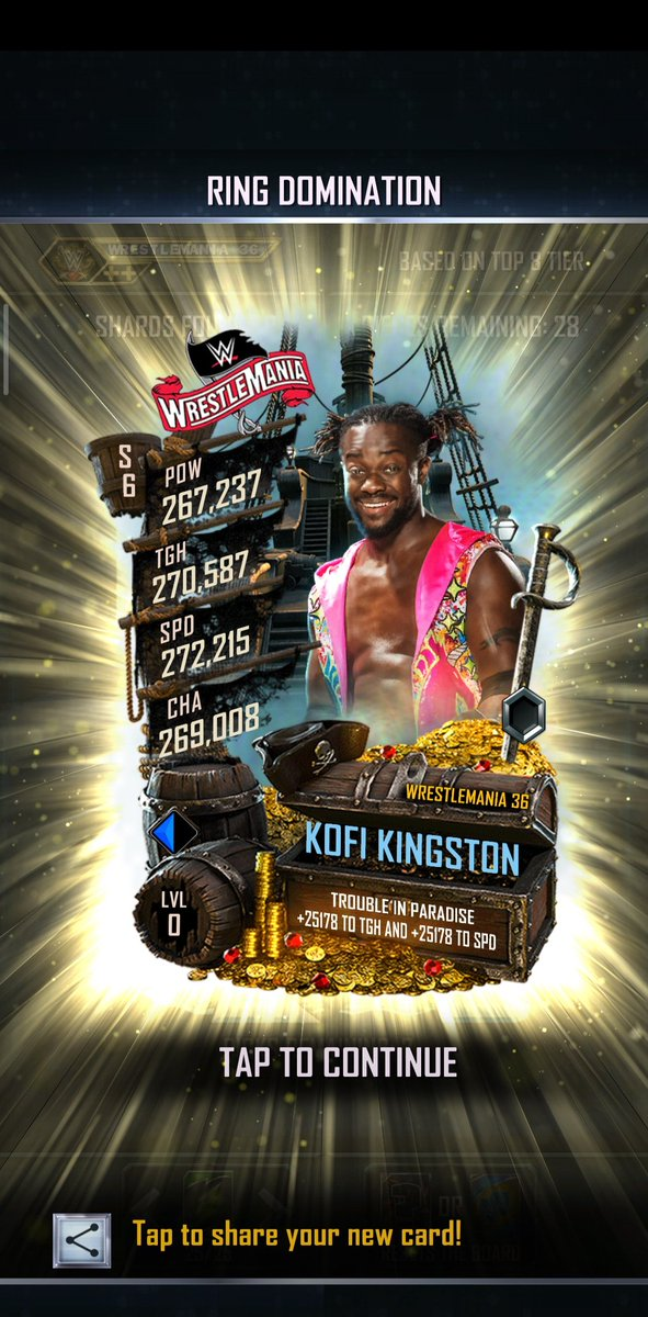 LAST PULL BEFORE NEW TIER I THINK..He's a single..  #WWESuperCardpic.twitter.com/vI21hWsWU8