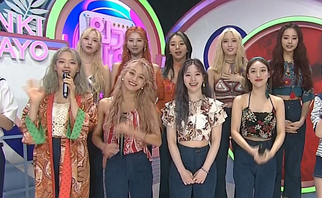 TWICEs outfits for their MORE & MORE comeback stage on SBS Inkigayo 😊 @JYPETWICE Some are wearing their Music Video outfit during Jeju island