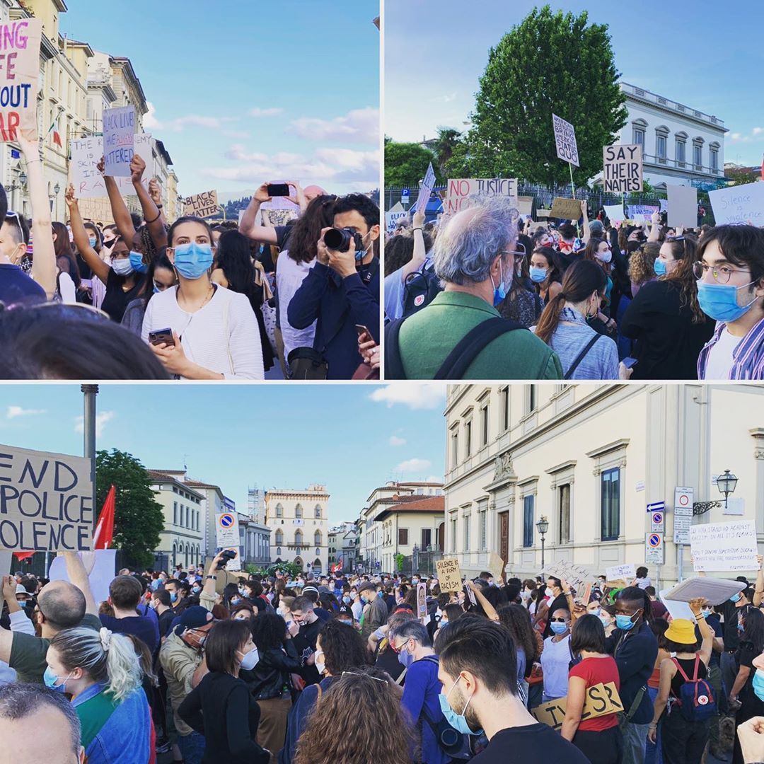 Florence protest, 6th June 2020 #blacklivesmatter #icantbreathe #equalitymatters #JusticeForGeorgeFloyd