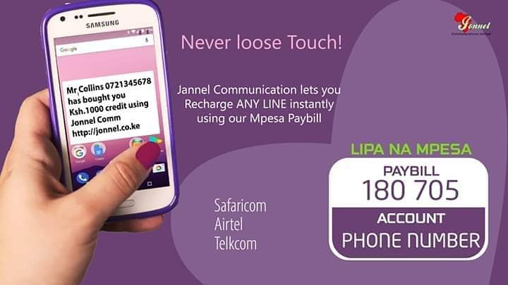 The world will ways find a way of rewarding you if you normalise giving. Give to receive You can buy airtime for your loved ones the easy way with #jonnel? Lipa na mpesa, Paybill is 180705. Account is the number of the other person #Spreadlove #buyairtime #staysafe. #sundayvibespic.twitter.com/hHIhzlLhRw