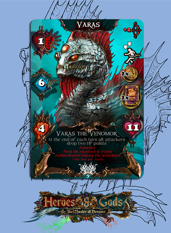 Kickstarter Update #21 Game Development - State of things (about delays) - Community contest monster design - Varas, the Venomor revealedhttps://www.kickstarter.com/projects/fanaticgamelabs/heroes-and-gods-the-master-of-dreams/posts/2857563 …pic.twitter.com/4zdF0wTdXp