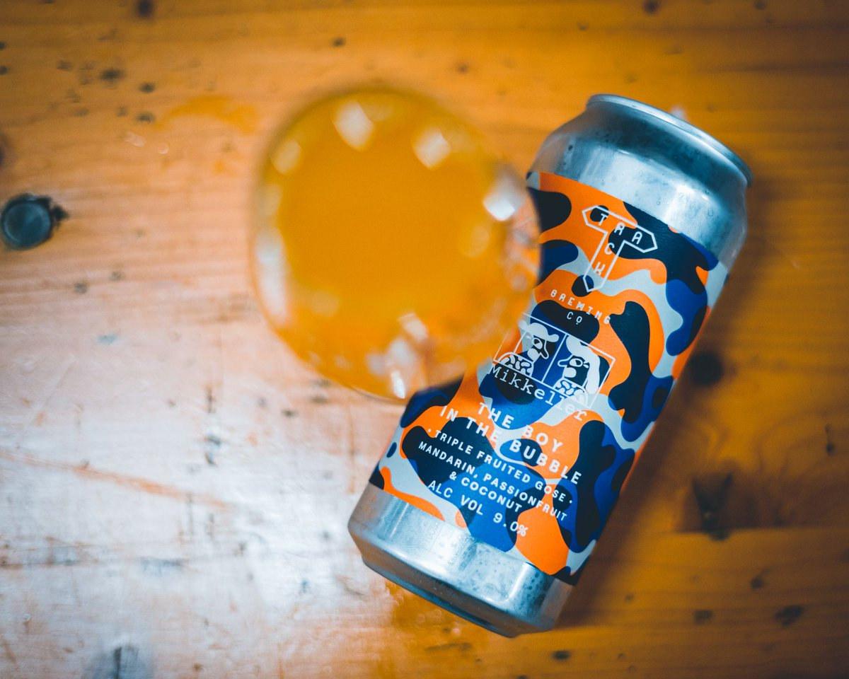 Have you tried our @MikkellerBeer collab yet? It's a Triple Fruited Imperial Gose packed full of Mandarin, Passionfruit & Coconut and it's available right now plus more from our webshop https://t.co/U4YXCK9rIn https://t.co/CPZhsrMgot
