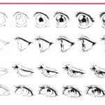 目の線画ができるまでの過程!理想の角度の目が描ける!
