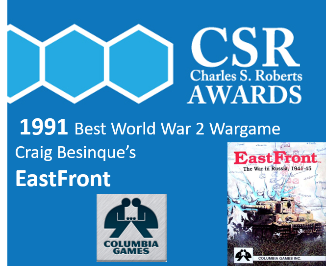 Winner 1991s Best World War 2 Boardgame Who will win this years Charles S. Roberts Awards? You can decide. Vote at charlieawards.wordpress.com by June 15, 2020. #thegameawards #wargames #boardgamegeek #boardgamers #wargamers #avalonhill #avalonhillgames #columbiagames