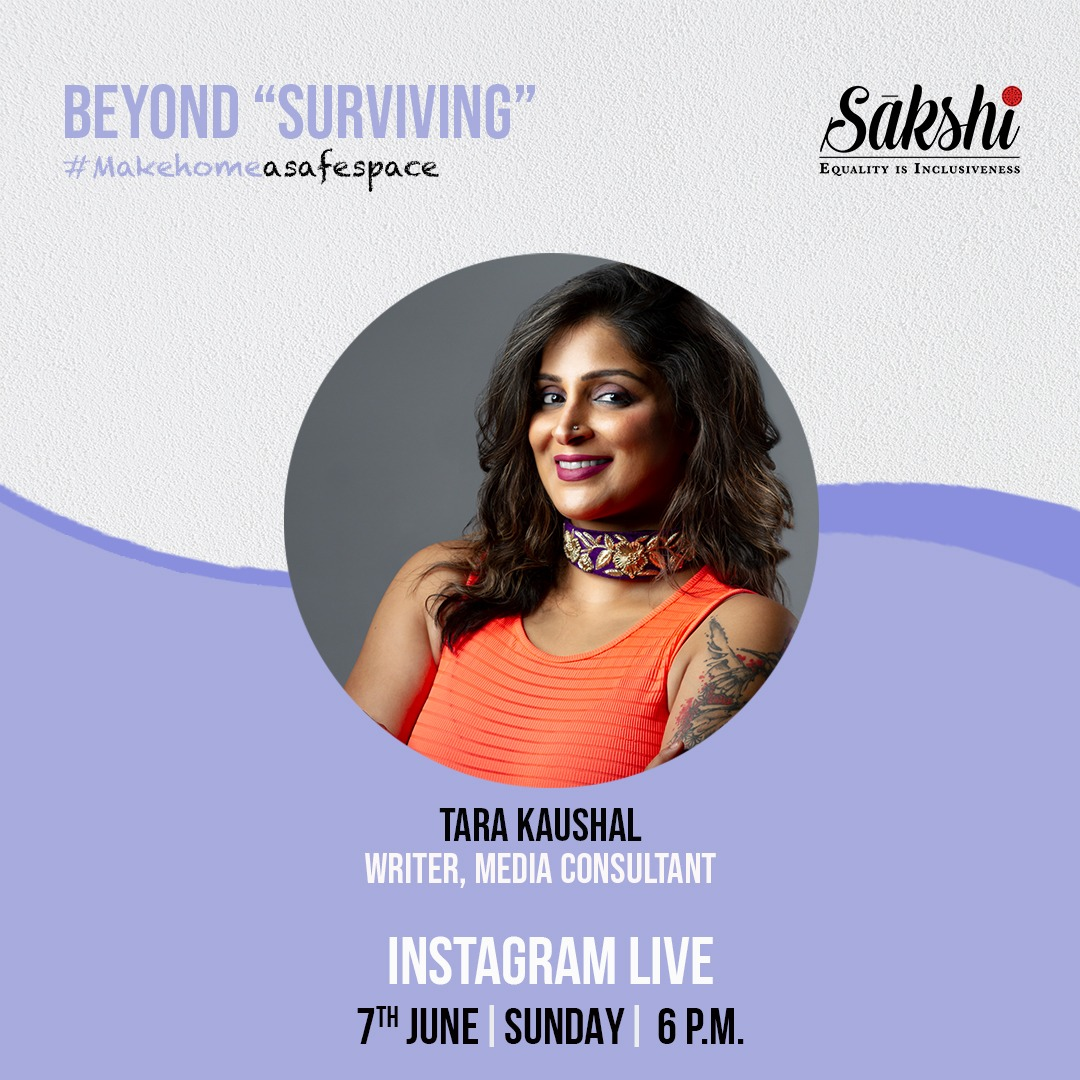 Log on to our Instagram NOW for a riveting conversation BEYOND SURVIVING with the amazing Tara Kaushal @TaraKaushal & @smita2phoenix ! #MeToo #MakeHomeASafeSpace