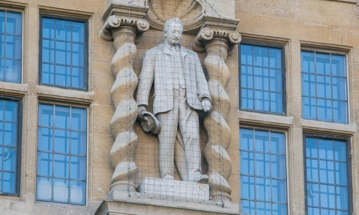 """1. Rhodes Statue - Oxford  Cecil Rhodes was a colonialist and a racist who believed the English were a """"master race"""" and he was instrumental in the seizure of swathes of African land. https://t.co/lY8FinVEfb"""