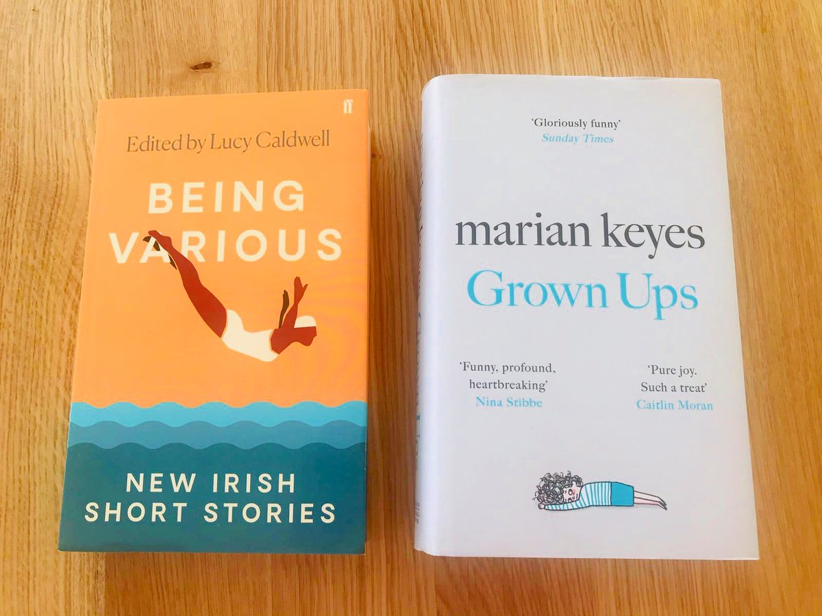 This week we're reading #BeingVarious, a collection of Irish short stories that are perfect to #ReadfromHome. We're also loving @MarianKeyes' new bestseller, #GrownUps. #BooksConnectUs #IrishWriters