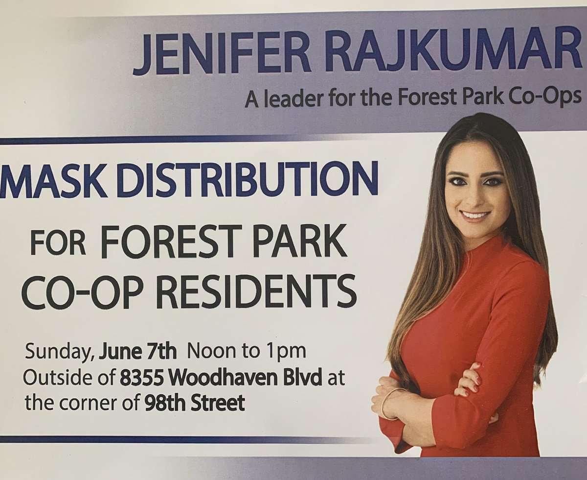 Jenifer Rajkumar On Twitter My Campaign Office Is Pleased To Host A Mask Give Away Today Outside Forest Park Co Ops Come By For A Mask Woodhaven Https T Co O5xqrnbpdr