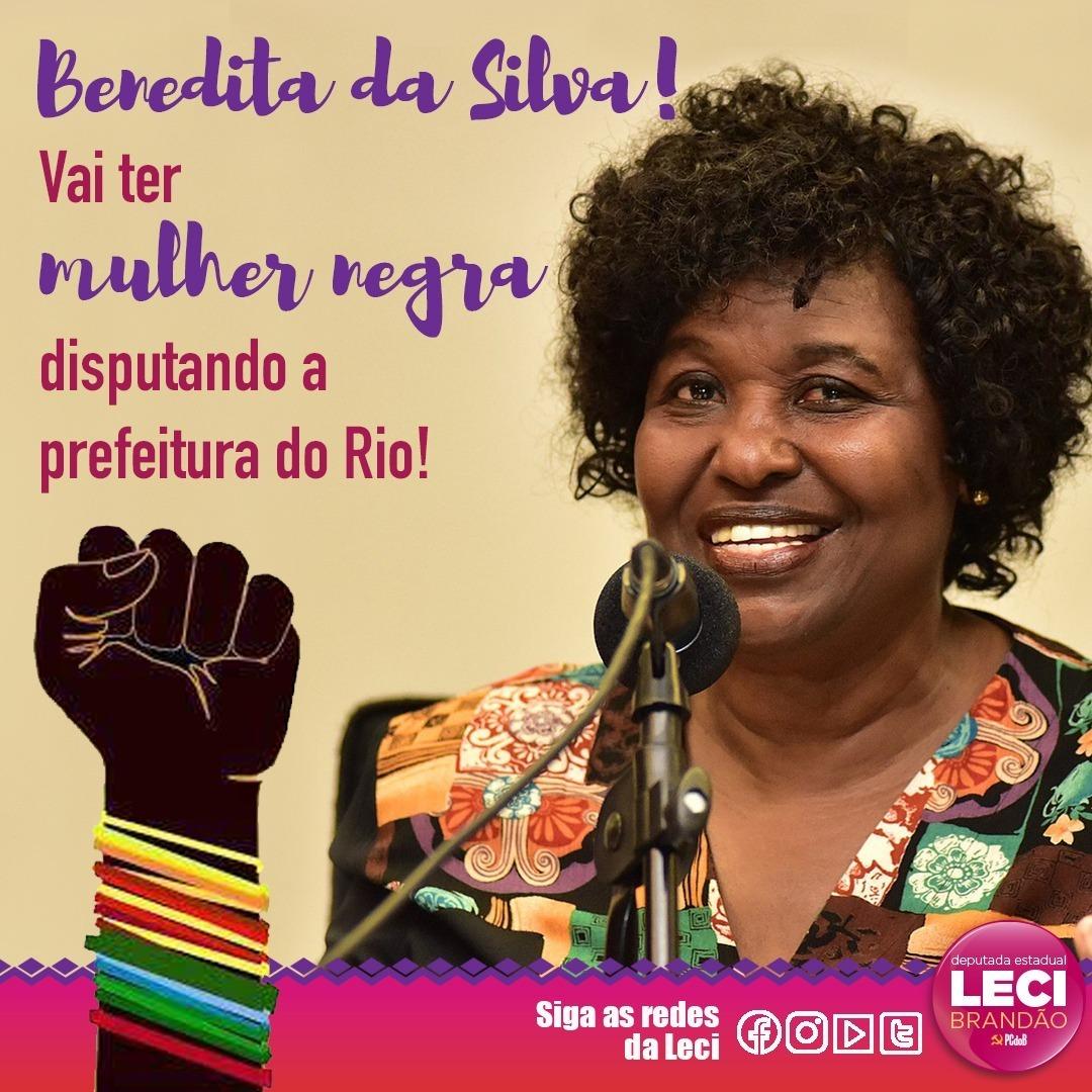 Vai ter mulher negra candidata, sim! Eu fico extremamente feliz quando vejo mulheres negras liberando na política. Benedita da Silva tem história, experiência, muita inteligência e o respeito das pessoas. Parabéns minha amiga! #MulheresNegras #MulheresNaPolitica #NegrasNoPoder pic.twitter.com/eZjt2NFIRg