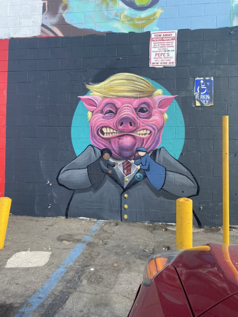Damn San Bernardino doesn't play with their art. This right here is amazing and I've never seen anything like this 🙀🐽🐷