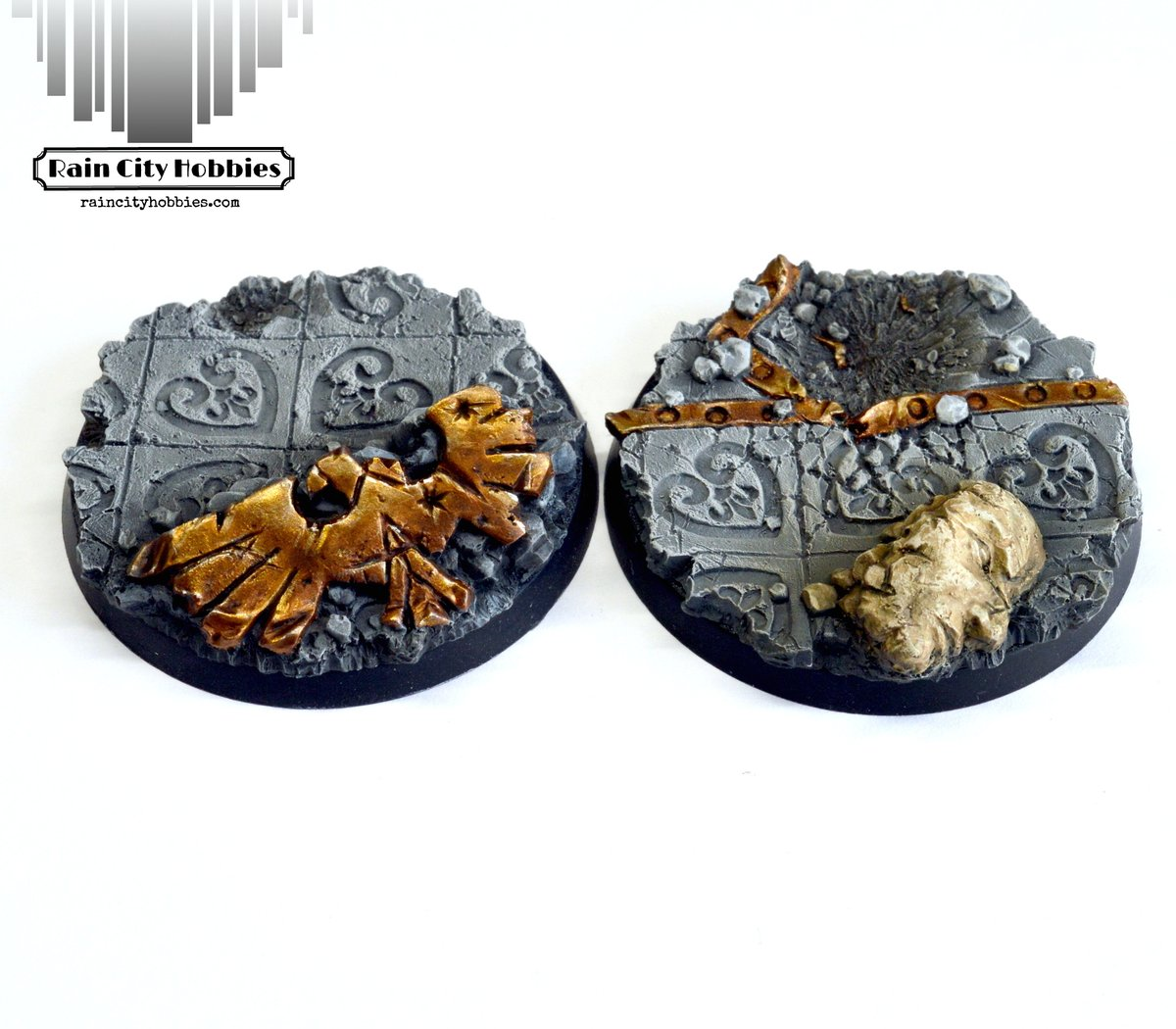 Just showing off a few more bases I sculpted and painted for https://t.co/BgxOoTBYhl You can find them there: https://t.co/Lh9IxFHa3b   #Warhammer #40k #warhammer40k #wh40k  #adeptasororitas #sistersofbattle  #spacemarines https://t.co/sOPJb3dOkT