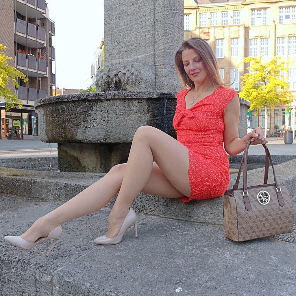 Elegant in a red dress and tan tights ❤️  #feminine #reddresses #elegantstyle #pantyhose #legs #tights #fashionista #elegantheels #germanbeauty #minidress #tightslover #nylonlover #elegantwoman #tightsblogger #fashionlegs #mystylerocks #mylookoftheday #highheels #reddress #guess