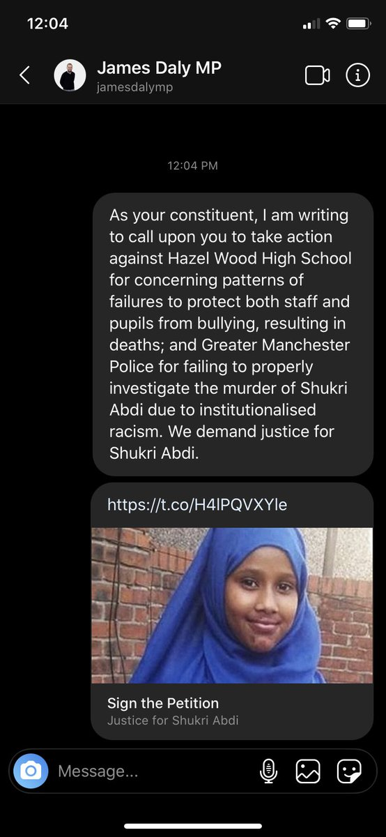 DM THE MESSAGE AND PETITION !!! I HAVE ADDED A TEMPLATE BELOW JUST COPY AND PASTE !! #JusticeForShukriAbdi https://t.co/xEJjUXJhEL