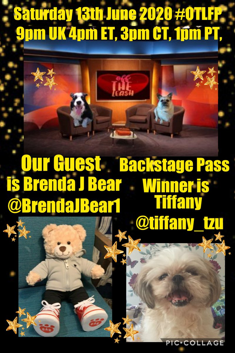 BREAKING NEWS!  Attention please Our Guest fur @OffTheLeashFP #OTLFP on Saturday 13th June is  Brenda J Bear  @BrendaJBear1 Backstage Pass Winner is  Tiffany @tiffany_tzu Come along & Join the fun 9pm UK 4pm ET 3pm CT 1pm PT Search🔎#OTLFP to join in & follow the show https://t.co/I76IHIoDiN