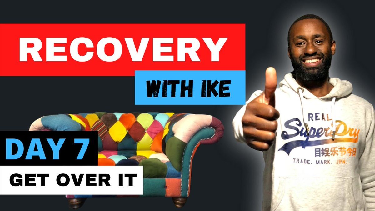 Day 7 - Get Over it - #RecoveryWithIke  #ChildOfGod #ChildOfGodTeam #ChildOfGodMovement #Recovery #Drugs #Alcohol #Sugar #Vitamins #Inspire #ThankYou #Blessed #GodBless #Addiction #Life #MyStory #MyJourney #Support #Donate #MasksForAfrica #MasksForNHS  https://t.co/zTAasY5gsV https://t.co/6wL7BQwA2X