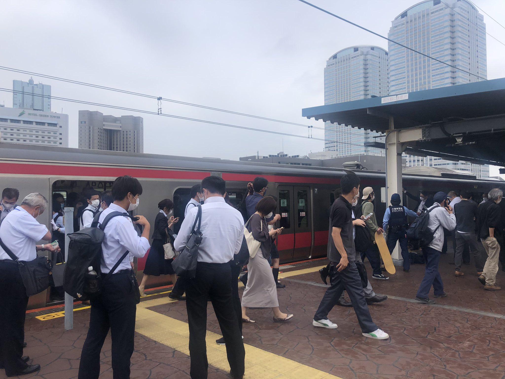 海浜幕張駅で人身事故が起きた現場の画像