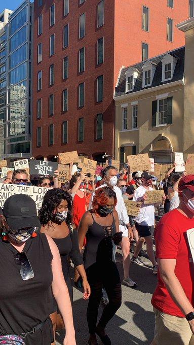 Mitt Romney Joins Black Lives Matter Protesters Marching Toward White House