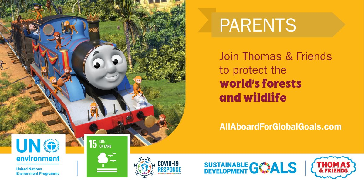 #COVID19 has shown that taking care of our biodiversity has never been more important. @ThomasFriends and @UNEP have created parent tips for you + your children to learn more about life on land. One activity: plant seeds & watch them grow 🌱 bit.ly/3baEOAO