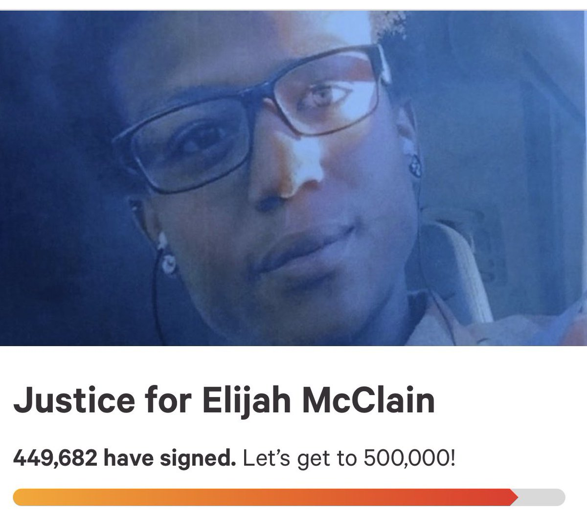 ❤️ Justice For Elijah McClain chng.it/ZphkQfK7fR
