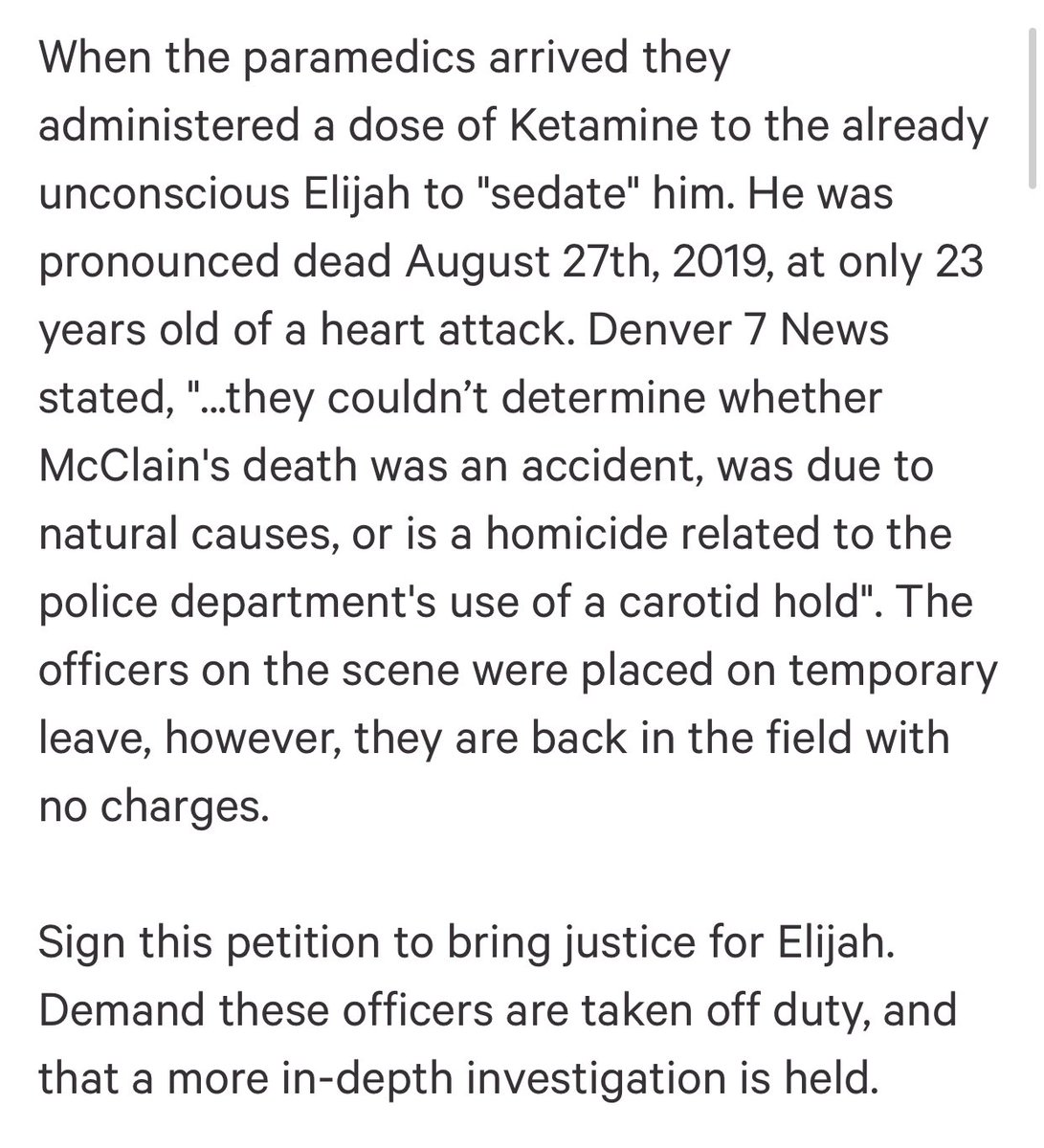❤️ Justice For Elijah McClain