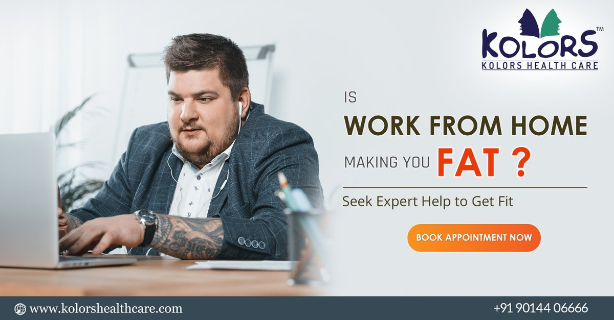Is Work from Home Making you Fat? Seek Expert Help to Get Fit. For appointment please contact to this number +919014406666 Or Visit https://www.kolorshealthcare.com/  #Letsfight #Corona #Together #covid19 #WeightLoss #InchLoss #FigureCorrection #BodyTherapy #BodyToning #LipoGel #Kolorspic.twitter.com/qKirRmnlSy