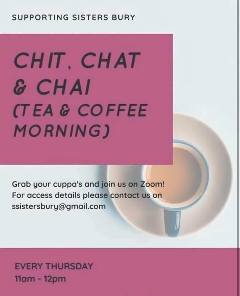 Looking forward to tomorrow's Chit Chat and Chai session supported by @nearneighbours the hour will be facilitated looking at FGM and DV. Last week we were shocked to see statistics of Forced Marriages in the UK. Contact @SupportingSist1 for log in credentials! #womenonly https://t.co/q3a5k9vLlg